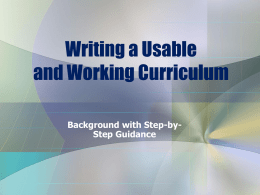 Curriculum Writing 2013 (2)
