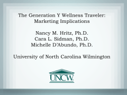 The Generation Y Wellness Traveler: Marketing Implications