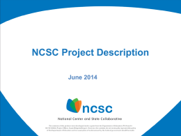 NCSC Project Description Document