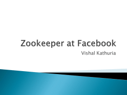 Zookeeper at Facebook