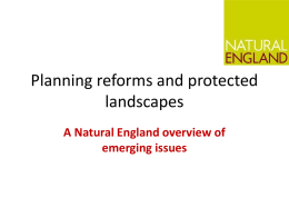 Andy Gale – Planning reforms and protected landscapes