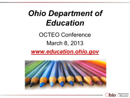 ODE Update Powerpoint - The Ohio Confederation of Teacher