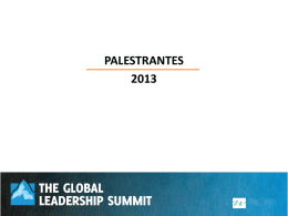 Preletores_Summit2013.ppt - The Global Leadership Summit Brasil