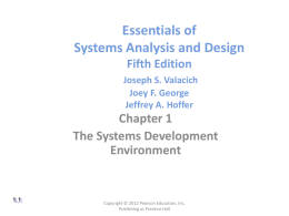 Essentials of Systems Analysis and Design Fifth Edition Joseph S
