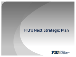 FIU*s Next Strategic Plan