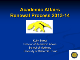 Academic Affairs - School of Medicine
