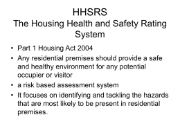 HHSRS - Waltham Forest Council