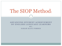 The SIOP Method - English