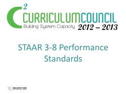 What are the STAAR 3-8 Performance Standard Labels?