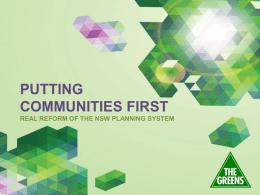 REAL REFORM OF THE NSW PLANNING