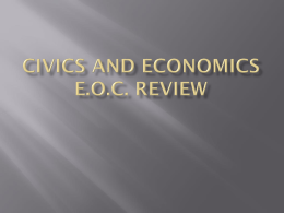 Civics and economics e.o.c. review