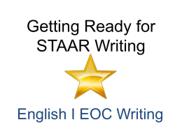 STAAR Writing