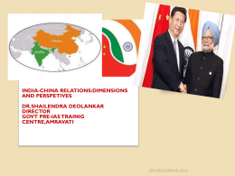 Indo-China Relations During Cold War Era