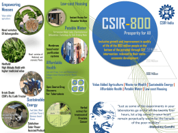 CSIR-800 Brochure - Council of Scientific and Industrial Research
