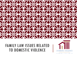 Family Law Issues related to DV 2