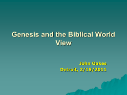 Genesis and Christian World View Power Point 2.11 Mb
