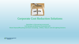 Cost Management Associates Cost Reduction Solutions LED
