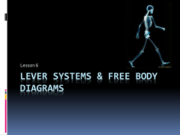 Lesson Six - Levers & Free Body Diagrams