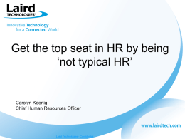 Get the top seat in HR by being *not typical HR*