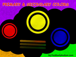 Primary and Secondary Colors