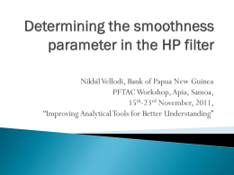 Determining the smoothness parameter in the HP filter
