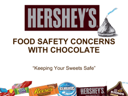 Hershey`s Food Safety Concerns with Chocolate