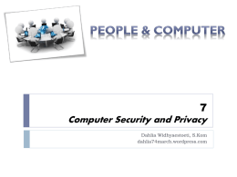 6 Computer Security and Privacy - dahlia74march