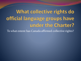 What collective rights do official language groups have under the