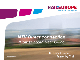 How to book NTV tickets in Euronet?