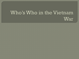 Who`s Who in the Vietnam War