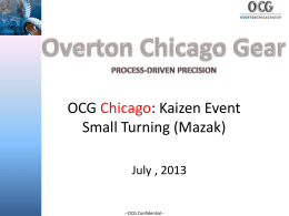 OCG Chicago Small Lathe PPT Draft (July 2013)