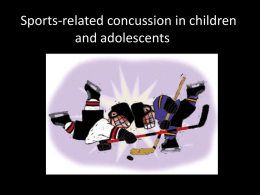 Concussion PPT presentation - Seafair Minor Hockey Association
