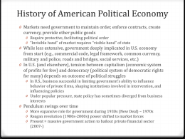 History of American Political Economy