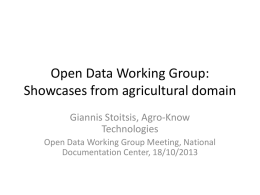 Open data in Agriculture