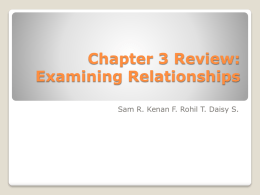 Chapter 3 Review: Examining Relationships