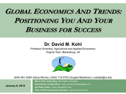 Dr. David Kohl`s 2015 Keynote Presentation