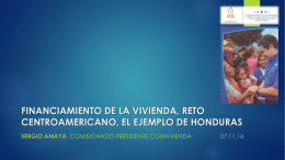 Financiamiento vivienda reto Honduras. final