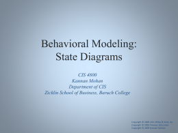 Behavioral Modeling: State Diagrams - Faculty Web Server