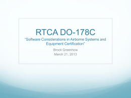 DO-178B and DO-178C Software Considerations in Airborne
