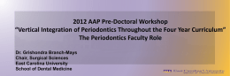 The Periodontics Faculty Role