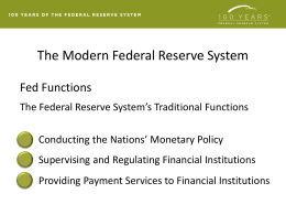 PowerPoint Slides - Federal Reserve Education