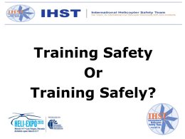 TRAINING SAFELY