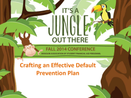 Crafting An Effective Default Prevention Plan