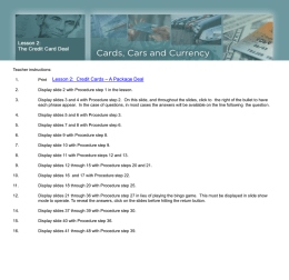 Credit Cards and Law - Federal Reserve Bank of St. Louis