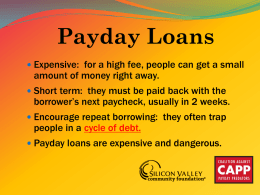 Payday Loans in Real Life