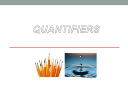 use of some quantifiers