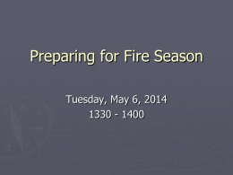 Preparing for Fire Season