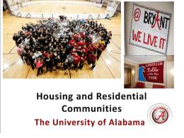 Housing and Residential Communities The