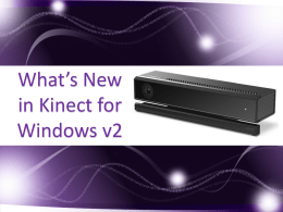 Whats New in Kinect for windows v2