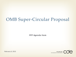 OMB Super Circular Proposal PowerPoint